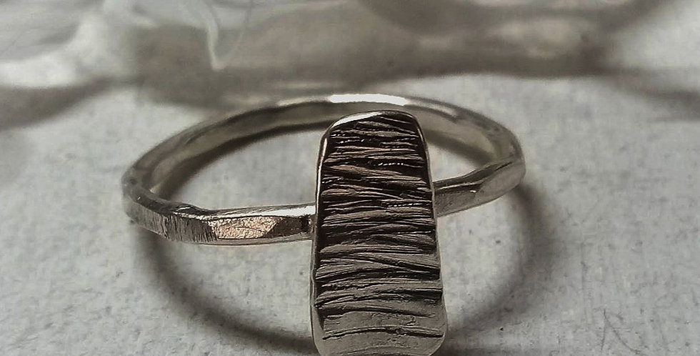 Sterling Silver Ring - Lines