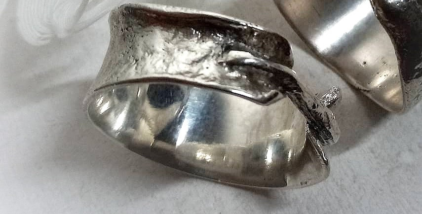 Recycled Silver Texture Ring