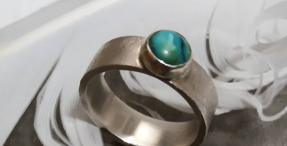 Sterling Silver Organic Turquoise Ring