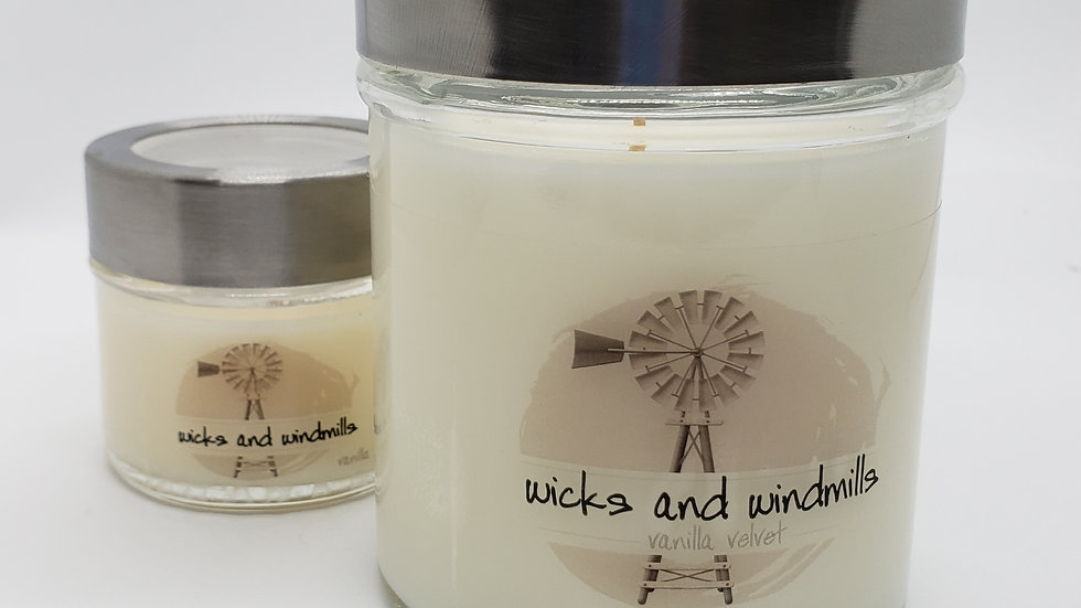 Vanilla Velvet| Hand Poured Soy Blend Candles