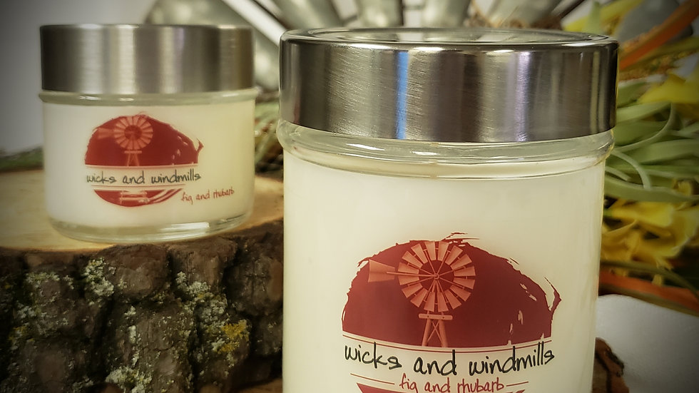Fig & Rhubarb fragrance | Hand Poured Soy Blend Candle