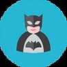 Icon of a superhero