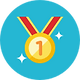 Icon of a gold medal