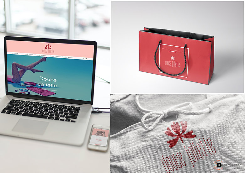 Communication - Graphiste - Logo - Site Internet  - Commerce Valence - Douce Joliette - Fleur de Peau - Dcommunication .jpg