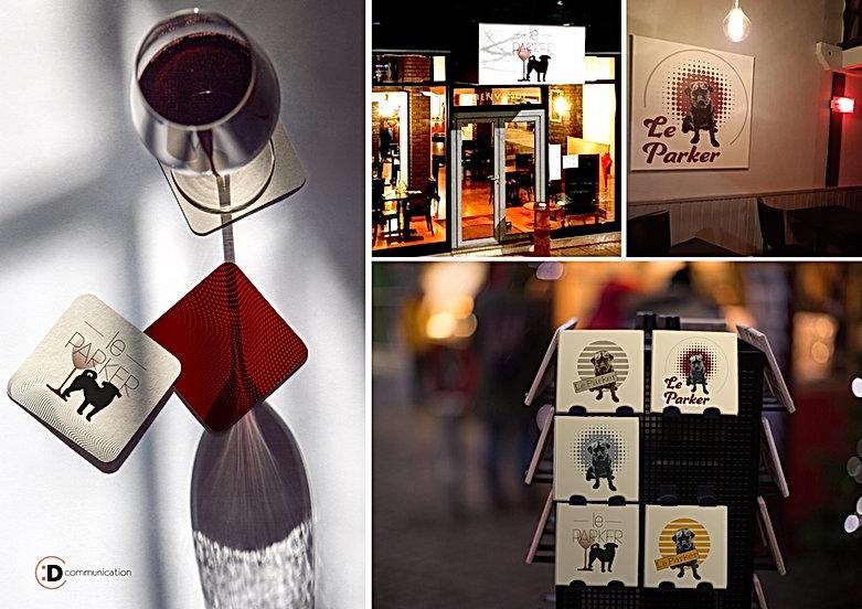 Communication - Graphiste - Logo Cadre décoration – Bar à vins – Commerce restauration Valence - Le Parker - Dcommunication .jpg.jpg