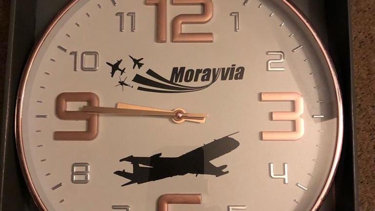 RAF Nimrod Embossed Clock