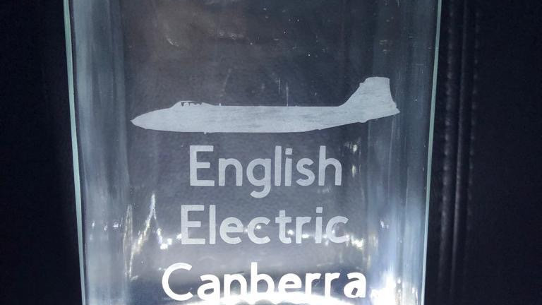 English Electric Canberra Etched Glass