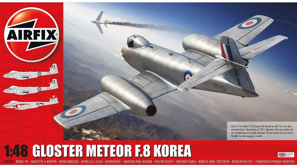 AIRFIX 1/48 GLOSTER METEOR F8, KOREAN WAR MODEL KIT