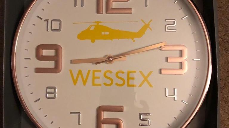 RAF Wessex Embossed Clock