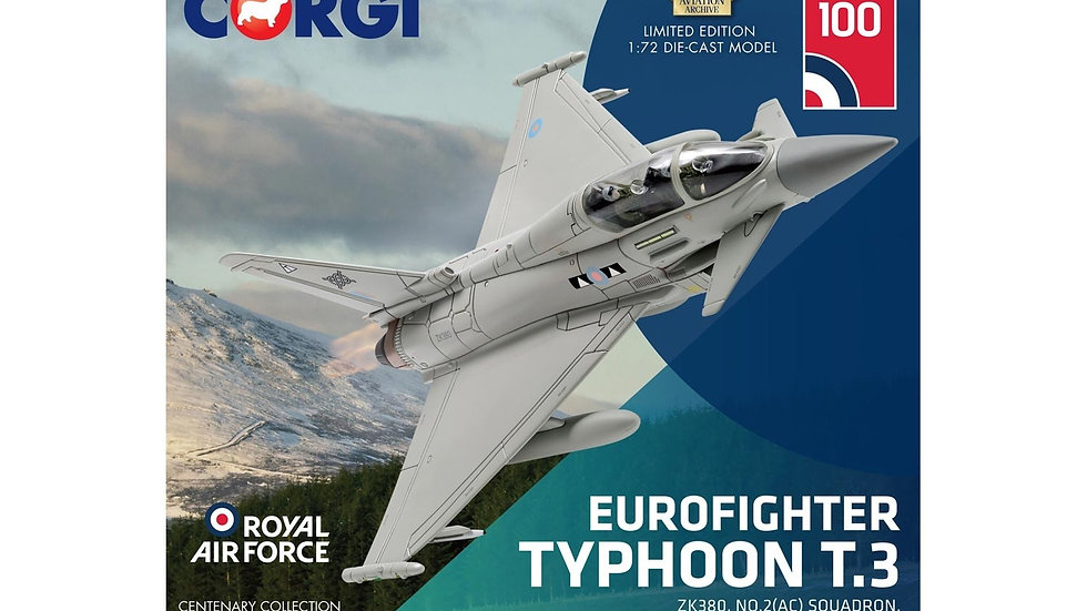 Eurofighter Typhoon T.3 ZK380 No.2(AC) Squadron -SIGNED
