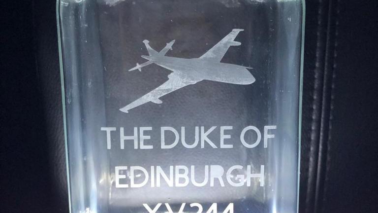 RAF Nimrod XV244 Etched Glass