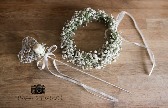 Hair Flowers & Wand