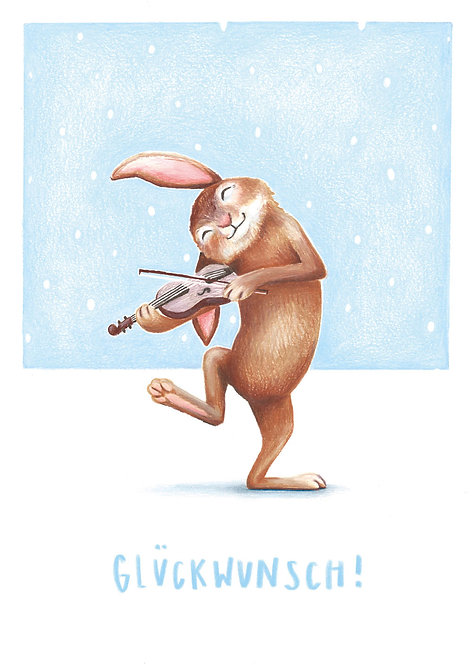 Glückwunschkarte Hase