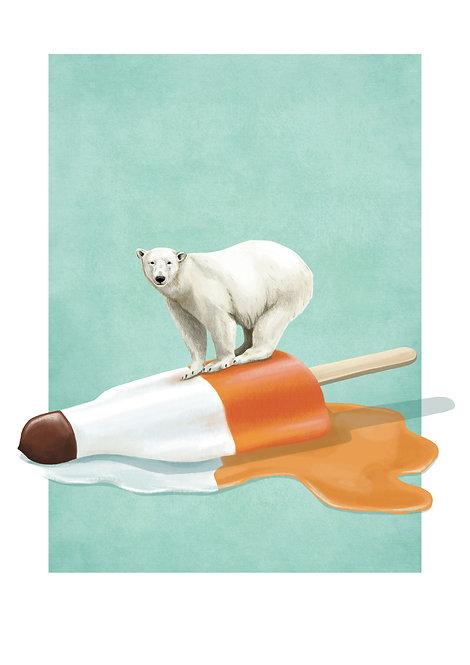 Kunstdruck / Eisbär