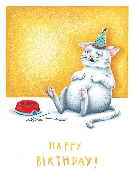 Glückwunschtkarte Geburtstags Kater