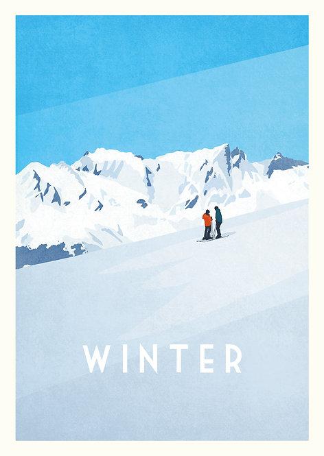 Faltkarte Winter