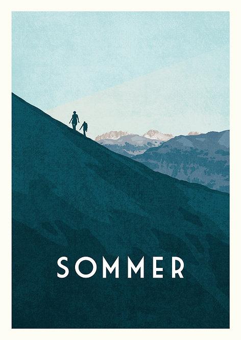 Faltkarte Sommer