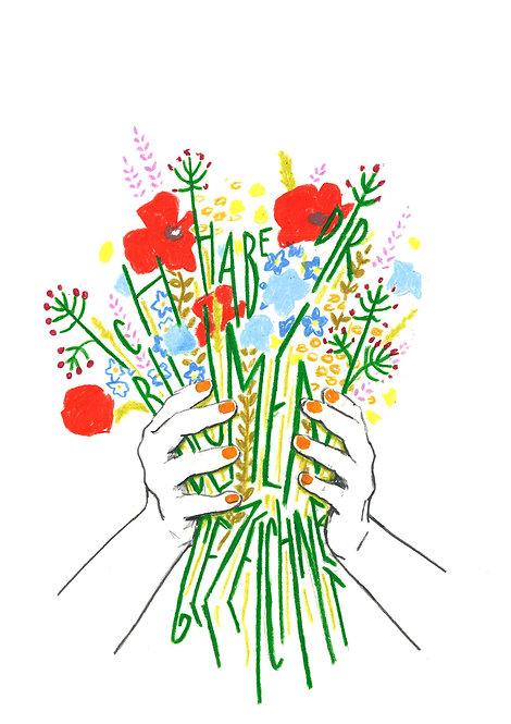 Karte / Blumen