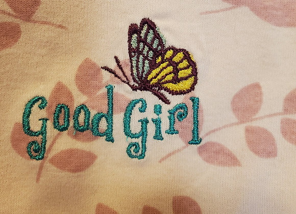 Onesie 6-9 Month Good Girl   w/Butterfly Short Sleeve