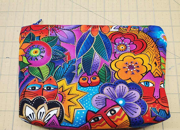 Crazy Cat Bag Envelope Style-Purple Inside