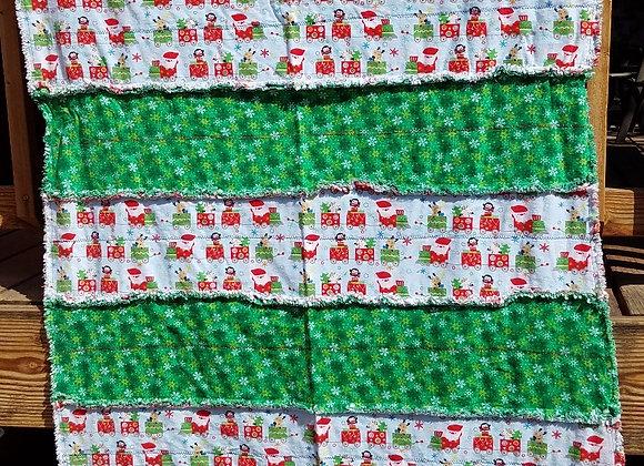 Santa train with snowflakes