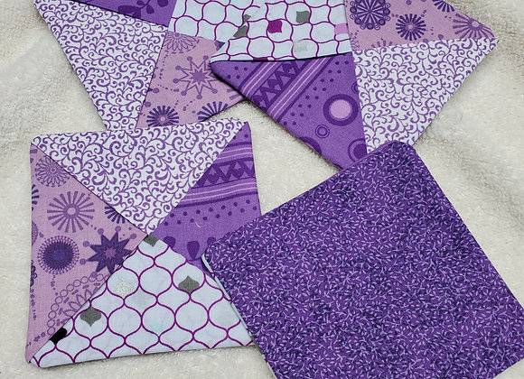 Coaster set Purple Mix