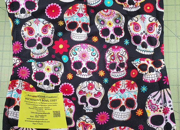 Sugar Skull Black w/flowers