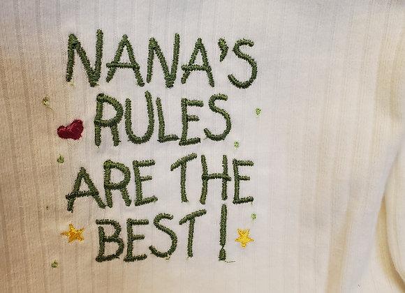 Onesie 12 Month Nana's Rules Short Sleeve