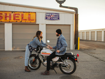 ANI + TODD'S URBAN MOTORCYCLE COUPLES SESSION