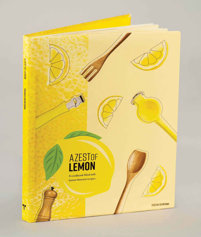 Lemon cookbook cover print