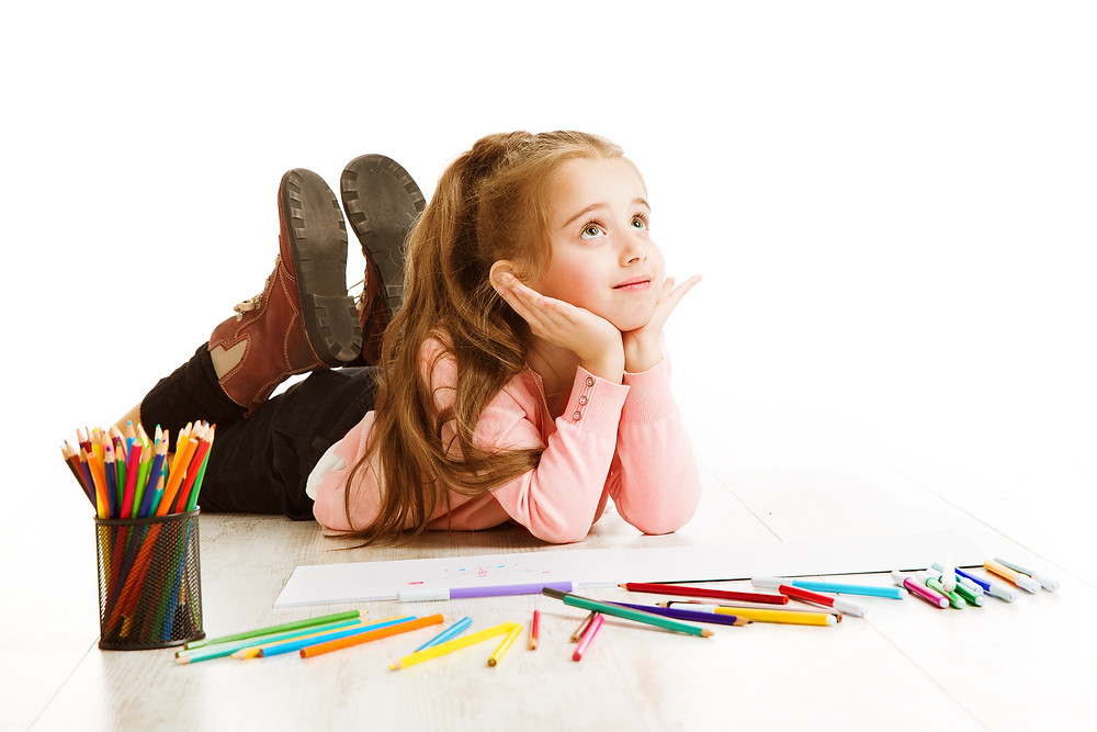 child thinking in educational therapy