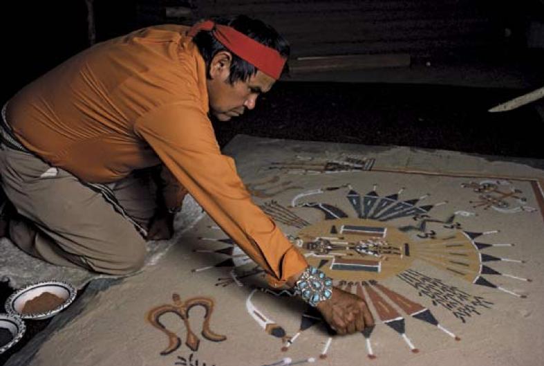 Navajo Medicine Man Sandpainting