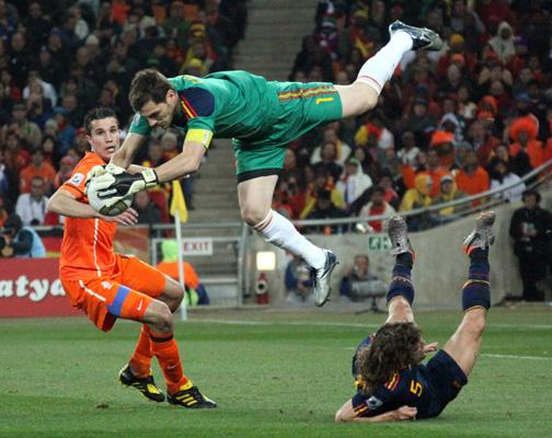 Iker Casillas volador