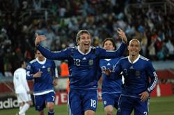 El gol de Palermo en Sudáfrica