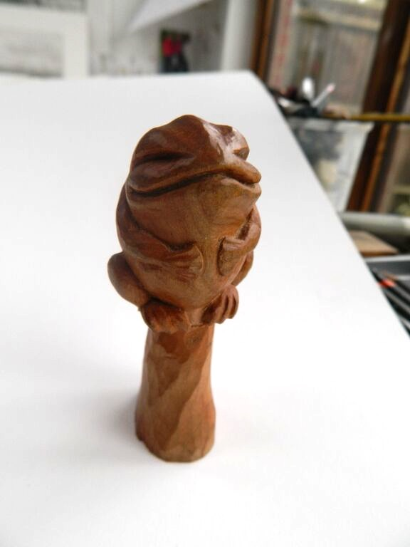 English Woodcarving Frog