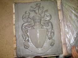 Heraldic Shield in Clay