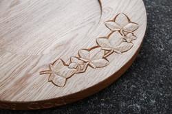 Oak Wood Carved Font Cover 2