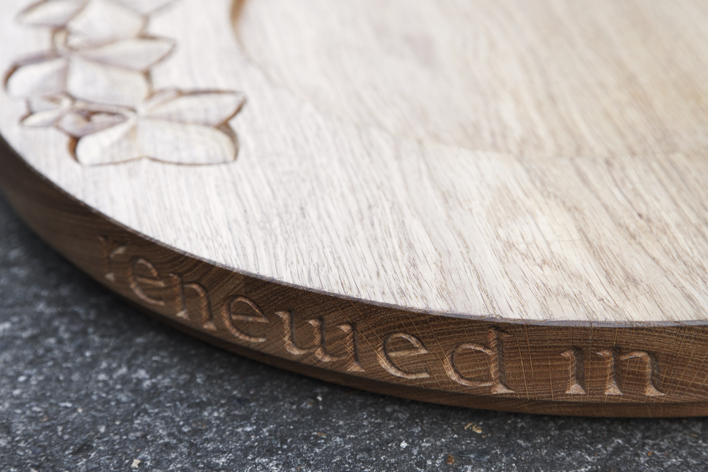 Font Cover in Oak