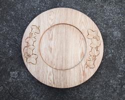 Oak Wood Carved Font Cover 1