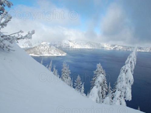 A Winter Morning at Crater Lake
