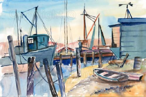 Early Morning At The Boatyard