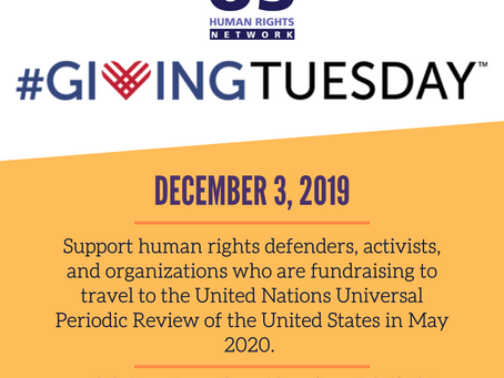 Please support a USHRN delegation to the UN on Giving Tuesday!