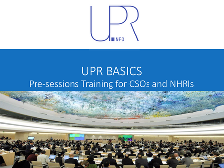 UPR-Info Resource: Pre-sessions Training for CSOs and NHRIs