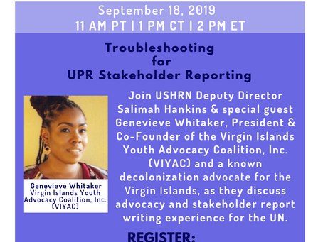 Resources: UPR Webinar Wednesday #6