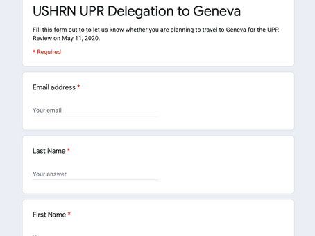 Do you plan to travel to Geneva for the May 11 Review?