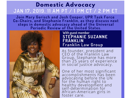 Resources from UPR Webinar #9