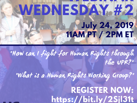 UPR Webinar #2: Human Rights Working Groups - Video, Presentation Slides, and Notes