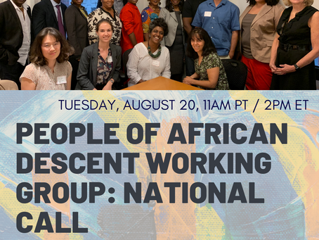 PAD Working Group National Call 8/20