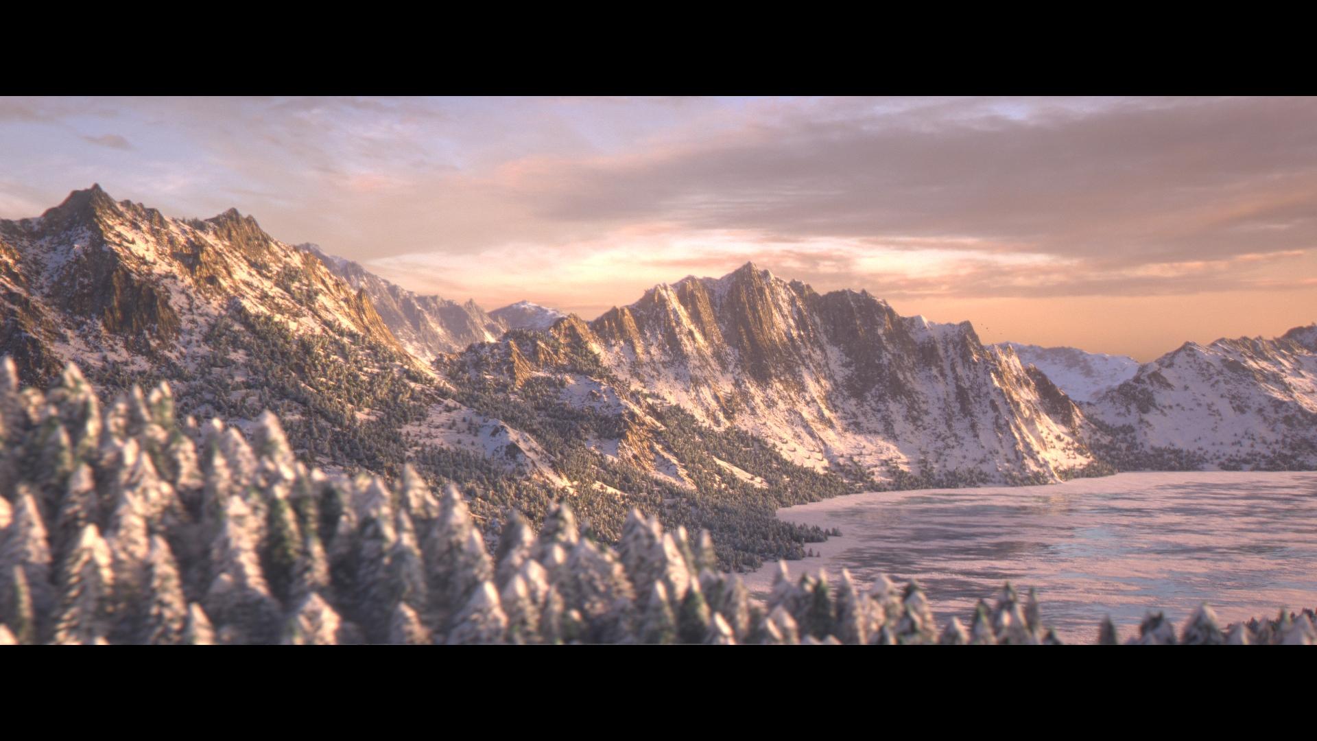 Montagnes de printemps
