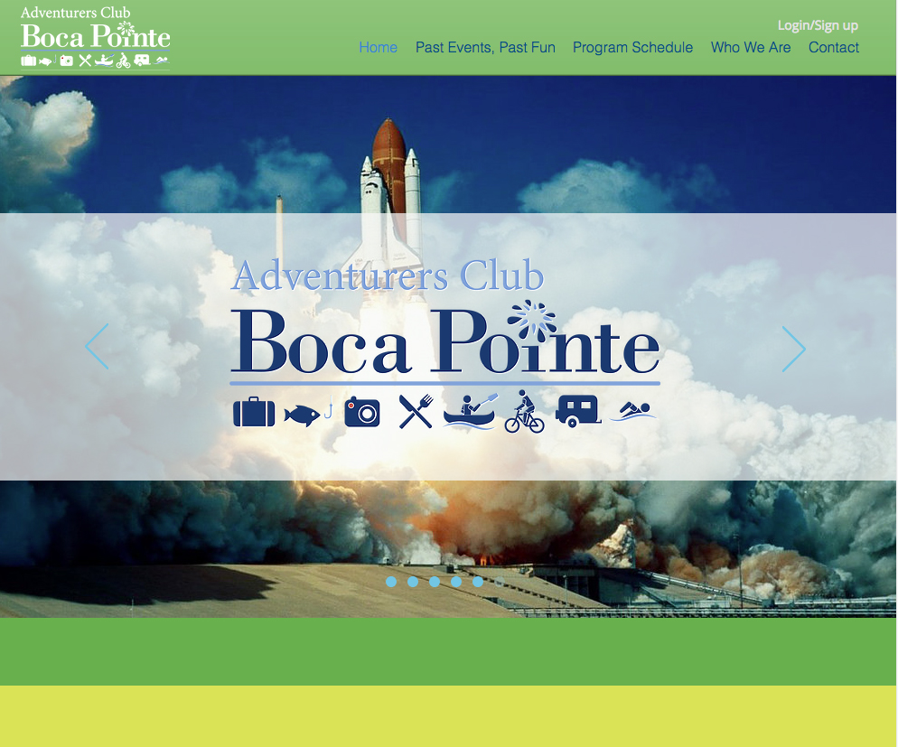 Boca Pointe Adventurers Club Website